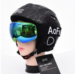 Wholesale Vision Cases - Brand ski goggles with box case double layers anti-fog lens big vision mask glasses motocross women men snow snowboard goggles