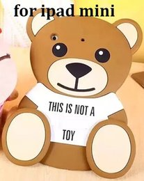 Wholesale Toy Teddy Bear China - Silicone Cover Cartoon Toy Teddy Bear Coque Moshino Phone Case For Apple iPad Mini 1 2 3 Tablet Case Cover Free Shipping