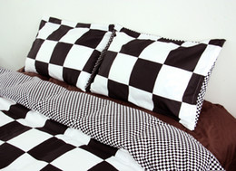 Wholesale Pillow Case Pair - Wholesale- Black And White Decorative Pillowcase Valentine's Day Gift Body Pillow Case 2Pcs Pair 50cmx75cm #ZY15