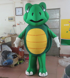Wholesale sea mascot - SX0720 With one mini fan inside the head green sea turtle mascot costume for adult to wear for sale