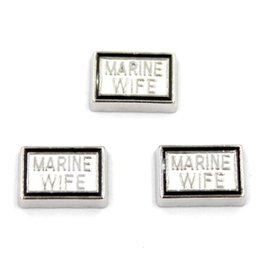 Wholesale Wholesale Marine Floating Charm - floating charm MARINE WIFE , floating charms for living locket, 20pcs lot, free shipping
