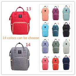 Wholesale Wholesale Fabric Bags Totes - Green color Diaper Bags Mommy Backpack Nappies Backpack Fashion Mother Maternity Backpacks Outdoor Desinger Nursing Travel Bags Organizer