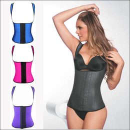 Wholesale Latex Shaper Waist Cincher Wholesale - New Latex Vest Waist Cincher Chest Binder Body Shaper Corrector For Women Corset Slimming Plus Size Waist Training Corset Beauty