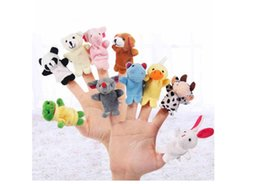 Wholesale Talking Animal Plush - Baby Finger puppets Baby Learning & Education Toys Baby Plush Toys Finger Toys Talking Props 10 animals group