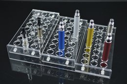Wholesale E Cig Display Cases - New acrylic e cig display case electronic cigarette stand holder rack for ego battery atomizer e cig d