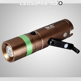 Wholesale Products For Hunting - New Products Zoom Rechargeable LED Manual Electricity Generation Dynamo Flashlight Waterproof LED Flashlights for Tents free shipping