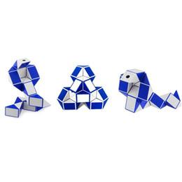 Argentina Pequeño Mini Cubo Mágico Gobernante Mágico Juego de Juguete de Forma de Serpiente 3D Cubo Puzzle Twist Puzzle Regalo de Juguete Juguetes de Inteligencia Aleatoria Regalos Supertop Suministro