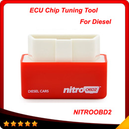 Wholesale dodge obd2 - 2016 New Arrival 2 Year Warranty Plug and Drive OBD2 Chip Tuning Box Performance NitroOBD2 Chip Tuning Box for Diesel Cars