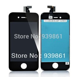 Wholesale Iphone 4s Complete - Wholesale-Guarantee LCD Screen Front Glass Touch Screen Digitizer Replacement Complete Kits For iPhone 4S Black,Free Shipping