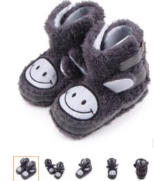 Wholesale Boots Smile - Hot Sale Winter Warm Snow Boots Baby New Coral Fleece Long ear smile baby shoes Toddler Infant Boy Girl Soft Soled Booties Boots.CX47