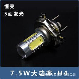Wholesale Motorcycle Headlight Lenses - The car headlights LED H4 front headlights with lens H4 fog lamp super bright 7.5W motorcycle headlight plug