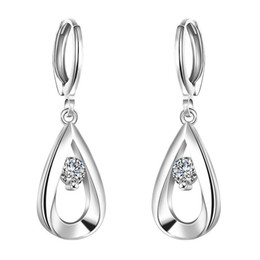 Wholesale earing for wholesale - 925 Sterling Silver Earrings Cubic Zirconia Silver Stud Earrings for women Fashion Earing E614