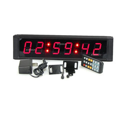 Wholesale Indoor Wireless Remote Control - 1'' Character High 6Digits Red Indoor LED Countdown Timer Sport Race Clock in Hours Minutes Seconds Control By Wireless Remote For Athletics