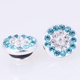Wholesale Wholesale Aquamarine Rings - Wholesale-Fimo Jewelpop fits kameleon diy bracelets,necklace,ring,silver plating,Aquamarine sparkle jewelpops