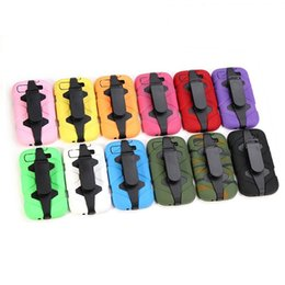Wholesale S3 Military Case - MILITARY HEAVY DUTY Defender Stand CASE with BELT CLIP COVER robot cases FOR IPHONE 4 4S 5 5S  5C Samsung Galaxy S3 S4 S5 Note II Note III