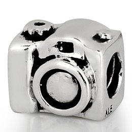 Wholesale Camera Charms Jewelry - Wholesale Camera Charm 925 Sterling Silver European Charms Bead for Pandora Women Jewelry Snake Chain European Bracelet Beads