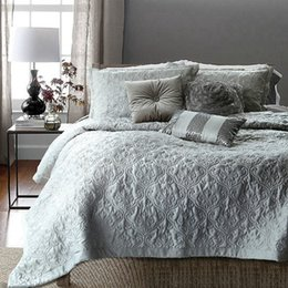 Wholesale Champagne Bedding Sets - Wholesale-Free Shipping! Adream Blanket Tribute Silk  Cotton Bedding Set Quilted Bedspread 3pcs Comforter Champagne Duvet Set