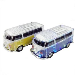 Wholesale Vw Mobile Phone - New hot sell mini wireless Bluetooth VW Bus Speaker ws-267bt- MP3   USB   TF Speaker Radio LED