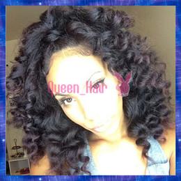 Wholesale Blonde Human Hair Wigs Top - Queen Hair virgin brazilian deep curl full lace wig & front lace wig top grade 6a human hair wigs in stock