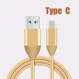 Wholesale Metal Android Phones - Metal Braided USB C Cable Durable cables High Speed Charging USB Type C Cable with 2A current quick charge for Android Smart Phone