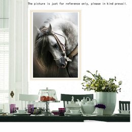 Wholesale Horse Decorations Wholesale - DIY Handmade Full Drill Diamond Painting Set Home Decoration Room Decor Horse Pattern Resin Rhinestone Pasted Cross Stitch H14906