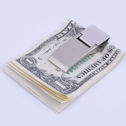 Wholesale Red Checkbook Wallet - Money Clip Metal Note Holder Wallet Large Bills Men Fashion Travel Accessory for Wholesale