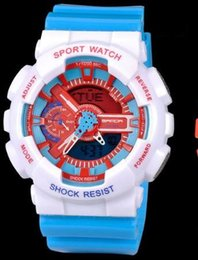 Wholesale Complete Table - Brand sanda Multi-function candy personality watch double luminous electronic watch sports table outdoor