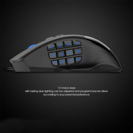 Wholesale Mmo Mouse - 12000 DPI 19 Buttons Programmable Mouse Optical Sensor Pixart PMW 3360 Optical MMO Gaming Mouse
