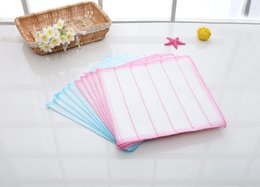 Wholesale Cheap Fabric For Cloth - 10Pcs Durable Cheap dish towel kitchen clean towel Fabric for dish towel Cotton and Fiber Cleaning Cloth