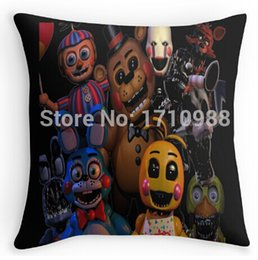 Wholesale 14x14 Pillow Case - Wholesale-Free shipping FNAF 2 animatronics (two sides) Free shipping Throw Pillow Cases for 12x12 14x14 16x16 18x18 20x20 24x24 inch