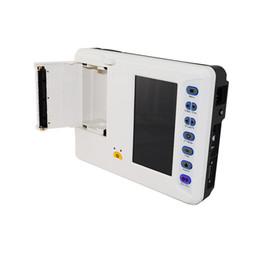 Wholesale Ecg Digital - Free Shipping to USA DHL Portable Digital 6-channel Electrocardiograph ECG Machine Color LCD ECG Machine