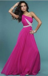 Wholesale Evening Dress Cheaper - A new evening Dress adornment is not responsible for cheaper price is not expensive for simple dinner dances beauty Fushia Formal Dress