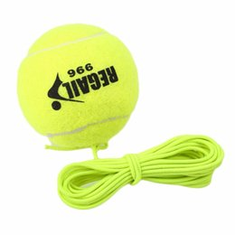 drill ball Coupons - Wholesale- REGAIL Hot High Quality Single Package Tennis Ball With String Drill Trainer Rubber Woolen Training Balls Sport