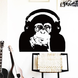 Wholesale Large Rose Wall Decal - wall art horse home decoration Vinyl Caesar monkey music Wall Sticker Rise of the Planet of the Apes orangutan room decor decals