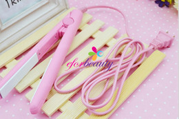 Wholesale Easy Hair Bangs - Mini Hair Straight Iron Straighter Bang Ceramic Hair Straight Good Quality Hot Selling Easy To Carry 100pcs