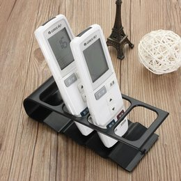 Wholesale Tv Remote Plastic - Hot Free shipping TV DVD VCR Step Remote Control Mobile Phone Holder Stand Storage Caddy Organiser #69715