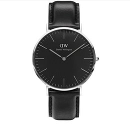 Wholesale Luxury Wrist Watches For Men - 2017 New Daniel Wellington DW watch men luxury branded watches for women fashion watch leather brown Casual Wrist watches free shipping