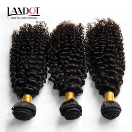 Wholesale Indian Curls - Indian Curly Hair Unprocessed Indian Kinky Curly Human Hair Weave Bundles 3Pcs Lot 8A Grade Indian Jerry Curls Hair Extensions Natural Black