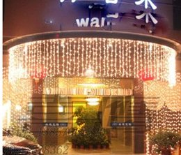 Wholesale Purple Icicle Lights - Free 10m*0.65m 320led Curtain Light Flashing Lane Led String Lamps Curtain Icicle Christmas Festival Lights 110v-220v Eu Uk Us Au Plug
