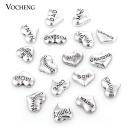 Wholesale Glass Heart Lockets - Metal Vintage Heart Floating Charm for Glass Locket (VA-166) Vocheng Jewelry