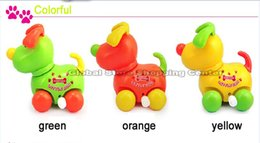Wholesale Naughty Toys - Wholesale-Free Shipping Shake the head and wag clockwork dog cartoon QQ naughty dog wind up toys Without Batteries