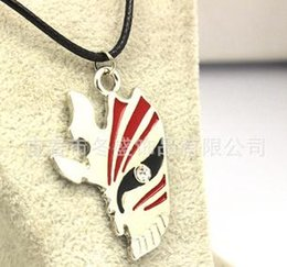 Wholesale Bleach Resin - Bleach Ichigo Hollow Half Face Mask Necklace 24pcs Lot Free Shipping 0721B2