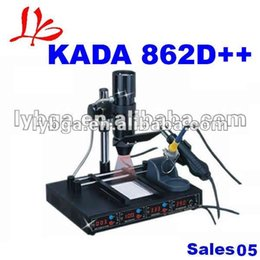 Wholesale Kada Soldering Station - kada 862d++ 4 in 1 Full Auto IRDA Infrared soldering Station BGA Rework Station