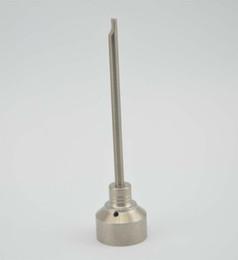 G2 Titanium Carb Cap Outil Domeless Titanium Nail TitaniumTi Nail 10mm 14mm 18mm Titanium Dab Outil Avec Carb Cap Dabber Grade 2 ? partir de fabricateur