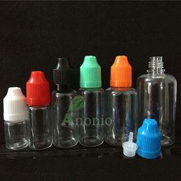 botellas de reciclaje Rebajas Al por mayor-1000pcs 10ml botellas de gotero de plástico con contenedor de cosméticos a prueba de niños botella de PET Reciclaje gotero de botellas de cuentagotas