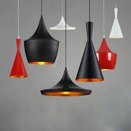 Wholesale Black Lighting Per - 2015 Hot Sales Tom Dixon Design LED Light Lamp E27 bulb Black White musical instrument restaurant & Home ceiling Pendant lamp A+B+C per set