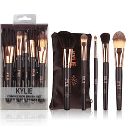 Wholesale Eyeshadow Palette Set Kit - 2017 New kylie Jenner Complexion Brush Set Nake Eyeshadow Palettes Foudation Makeup Brushes High Tech Make Up Tools