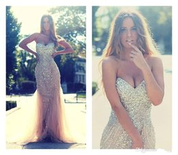 Wholesale High Quality Quinceanera Dresses - Sequins Prom Dresses 2015 Sweetheart Sequins Beading Crystals Mermaid Evening Dresses High Quality Personalized Quinceanera Pageant Gowns