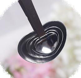 Nouveau 300set * 4pcs / set = 1200pcs / lot Cuillères à mesurer en forme de coeur sertie de boîte-cadeau rose Faveurs de mariage LOVE / 1 ? partir de fabricateur