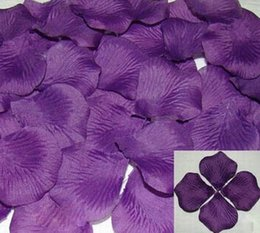Wholesale Fabric Flowers Sold - Hot sell New 4000pcs Purple 40 Colors Pretty Fabric Flower Rose Petals Wedding Party Decoration 13011802